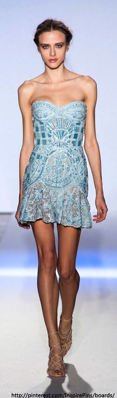 looks way too small, does not fit.  chick too too skinny.  but on a happy note-nice fabric.....Couture Spring 2013 - Zuhair Murad
