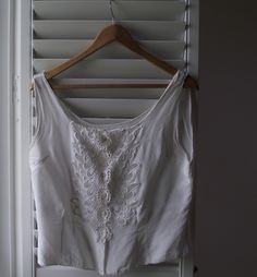 Beautiful cotton white...! Found ages and ages ago and still wearing it...