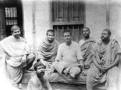 Men of Peace & Action -  Photo taken on June 20, 1899 Belur Math : Trigunatitananda, Shivananda, Vivekananda, Turiyananda, Brahmananda. Below Sadananda.