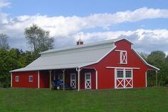 Red Barn Galvanized Roof