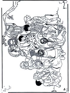 jesus blesses the children coloring page to print. | from ... - Jesus Children Coloring Page