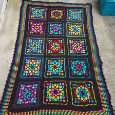 gorgeous stained-glass afghan