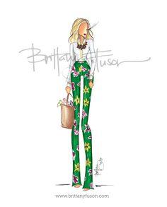Custom Illustration: Rachel [ brittanyfuson.blogspot.com ]