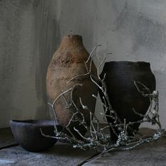 wabi-sabi centerpieces     hygge, minimalism, unglazed pottery, handbuilt ceramics, primitive, unique ceramic vase, farmhouse pottery, brutalist, rustic, crock, Wood fired Pottery, wabi sabi