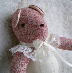 Victoria the Little Teddy Bear by ellemardesigns on Etsy, $10.00