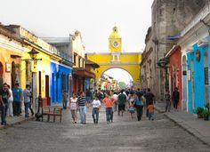 Arco de Santa Catalina near Iglesia de La Merced / Calle del Arco / La Antigua Guatemala / by @TheCultureist
