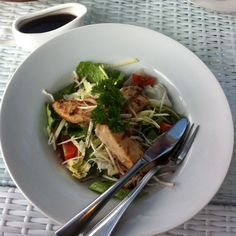 Spicy Grilled Chicken Thai Salad