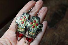 LOLITA+Vintage+tin+cross+earrings