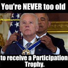 Politicians giving trophies to cronies like hollywood gives awards to actors all inside jobs!