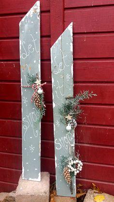 """Weihnachtsdeko - Türschild """"Let it ....."""" - ein Designerstück von HausNo7 bei DaWanda"""