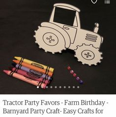 Tractor Birthday, Farm Birthday, Craft Party, Easy Crafts, Tractors, Party Favors, Christmas Ornaments, Toys, Holiday Decor