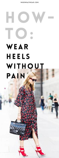 We all know the feeling when you've found your favourite pair of heels, but they're just so uncomfortable. Well, make any pair of heels comfortable with this trick!