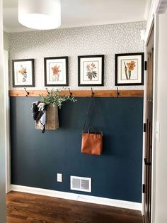 Simple & Affordable Fall Entryway - A special thanks to Walmart for sponsoring . , Simple & Affordable Fall Entryway - A special thanks to Walmart for sponsoring this post. Fall colors are my absolute favorite – If y - Fall Entryway, Entryway Ideas, Entryway Decor, Hallway Ideas Entrance Narrow, Wall Decor, Entry Hall, Narrow Hallways, Home Entrance Decor, Wall Mural