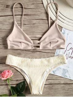 e96df0eba3 Herringbone Micro Bralette Bikini Set Bralette Bikini, Bikini Swimwear, Bikini  Set, Sexy Bikini