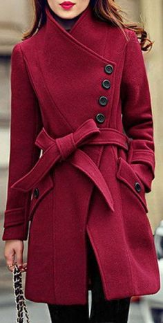 Merlot Belted Trench ❤︎