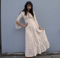 1960s Gunne Sax Wedding Dress