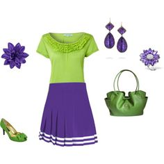 """Warm Spring/Clear Spring - yellow-green ispiration"" by adriana-cizikova on Polyvore"