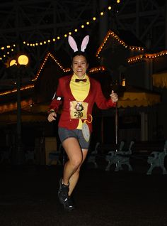 White Rabbit for Neverland 5K 2013. Forever 21 blazer, old polo from Up costume, Doctor Who bowtie, DIY clock face