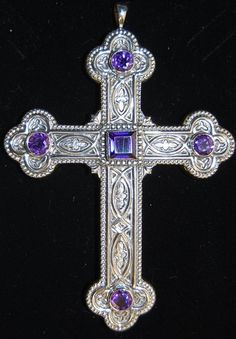 + Traditional Pectoral Cross + Sterling Silver + Celtic Style + chalice co. +