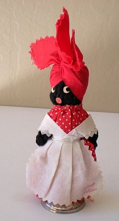 Vintage Black Mammy Souvenir Doll.  I've always loved her. She has so much character, and she made me want to spend more time in the kitchen.