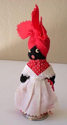 Vintage Black Mammy Souvenir Doll/Bell