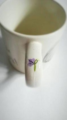 Elephant Mug, Hand Drawn, Ceramic, Cup, Coffee Mug, Mugs With Sayings,  Elephant Gifts, Flower, Baby Elephant, Gift For Mum, Trunk