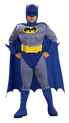 Boys Batman Brave Muscle Kids Child Fancy Dress Party Halloween Costume, S (4-6) * Details can be found by clicking on the image.