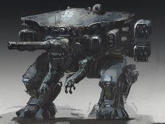Robot - Sketch, Juan Pablo Roldan on ArtStation at https://www.artstation.com/artwork/l8BDo