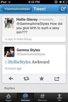 HAHAHAHAHAHAHAHAHAHHAA. Poor Gemma. That girl needs to get her facts straight. I hope she knows that Gemma is HARRY'S OLDER SISTER.