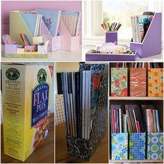 How to DIY Simple File Organier tutorial and instruction. Follow us: www.facebook.com/fabartdiy