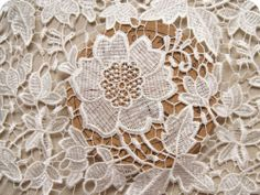 Gorgeous French Floral Lace Fabric Evening Dress Fabric White Rose by 1 2 Yard | eBay