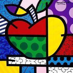 Original painting by the Brazilian artist Romero Britto - Paris Art Web