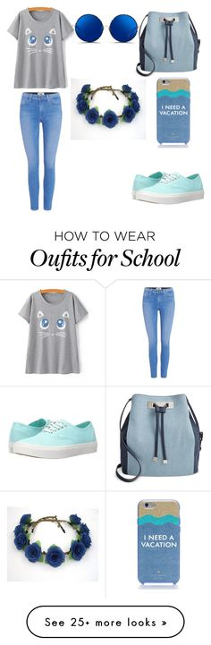 """School outfit"" by iza-lilith-blair on Polyvore featuring Paige Denim, Vans, INC International Concepts, Kate Spade and Matthew Williamson"
