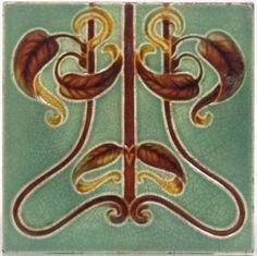 Art Nouveau Reproduction Decorative Ceramic tile 046