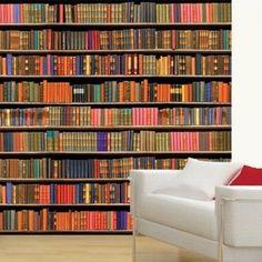 boekenwand behang