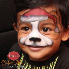 25 Days of Christmas. Puppy dog face painting - Color Me Face Painting
