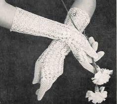 Crochet Gloves for a Princess 1950s Vintage Crochet Pattern PDF on Etsy for $2.50