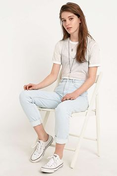 BDG Mom Jeans in Ice Blue