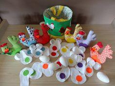 Kleurenspel School Themes, Games For Kids, Let's Pretend, Felt, Stage, Easter, Easter Activities, Games, Games For Children