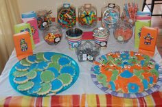 Candy table for Robot Birthday