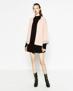 Image 1 of DOUBLE-FACED SQUARE CUT JACKET from Zara