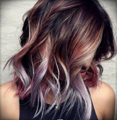 the trendy colors for summer 2019 summer hair color trends summer hair + # hair color trends … - Best HairStyles For All Ombre Hair Color, Hair Color Balayage, Cool Hair Color, Brown Hair Colors, Hair Highlights, Purple Hair, New Hair Colors, Color For Long Hair, What Hair Color Is Best For Me