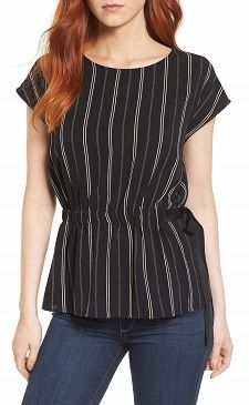 Frugal Friday's Workwear Report: Gathered Waist Side-Tie Top - Corporette.com
