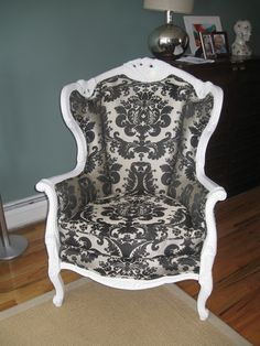 Damask chair @ the divine chair I could have pinned the whole gallery.