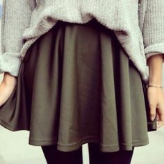 Sweater skirt and tights