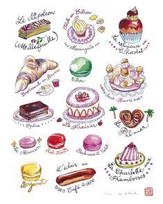 Les gâteaux français  Pâtisseries françaises  par lucileskitchen, $25,00