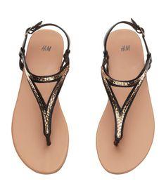 Sandals | Black | Ladies | H&M US