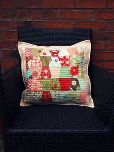 charm pack pillow by ImAGingerMonkey, via Flickr