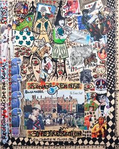 Damian Le Bas, Gypsy Buccaneer, 2009 Visionary Art, Outsider Art, Collages, Gypsy, It Works, Paintings, Artist, Stockings, Paint