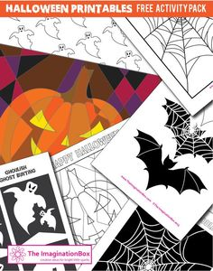 The ImaginationBox: Halloween free printable activity pack to download. From bats to bunting, pumpkins to ghosts - great for doodling, or creating a ghoulish space for your kids to hang out in. Have a Spooktacular Halloween everyone